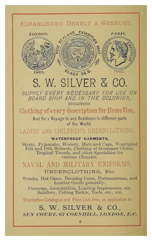 S.W. Silver & Co. advert
