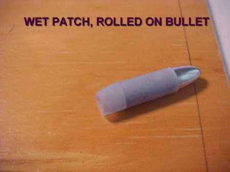 Patched bullet