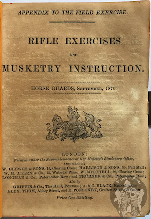 Musketry Instruction 1870