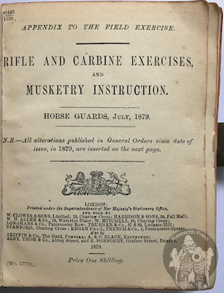 Musketry Instruction 1879